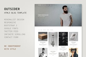 Outsider - HTML5 Blog Template