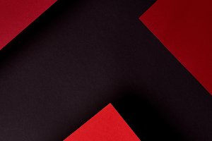 Abstract background with red paper s