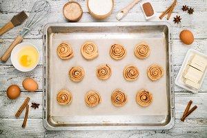 Cooking cinnamon rolls