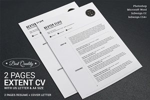 2 Pages Full Extent Resume CV