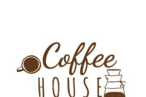 Coffee house cafe logo vector