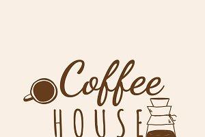 Coffee house cafe logo vector