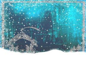 Christmas Nativity Scene greetings c