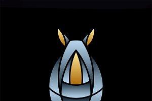 Cute rhino animal design vector
