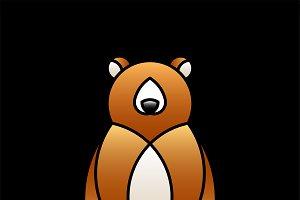 Cute bear animal design vector