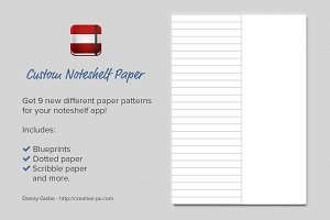Custom Noteshelf Paper