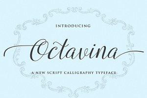 Octavina Script Calligraphy Typeface