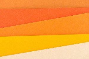 close-up shot of orange shades paper