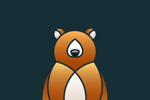 Cute bear animal design vector
