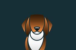 Cute dog animal design vector