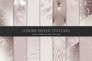 Rose and Silver Metallic Textures