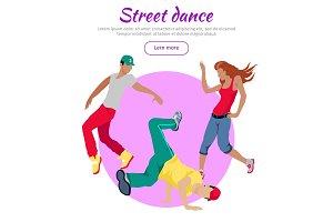 Street Dance Concept Flat Style