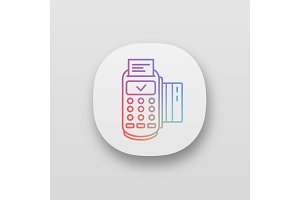 POS terminal transaction app icon
