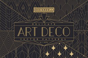 Delicate Art Deco Vector Patterns