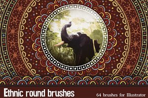 Ethnic round brushes