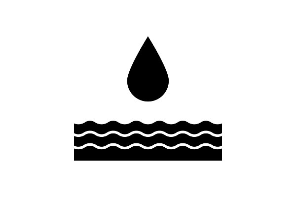 Water energy glyph icon