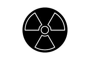 Nuclear energy glyph icon