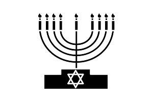 Menorah glyph icon