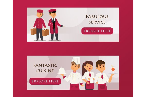 Hotel service banner vector