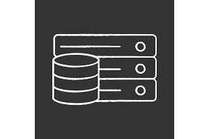 Database chalk icon