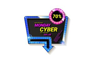Cyber Monday movie style banners