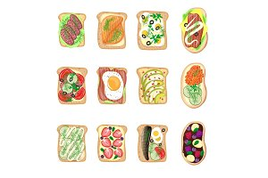 Sandwich breakfast toast set bread