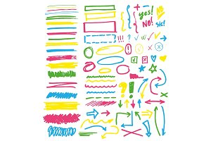 Highlighter markers vector