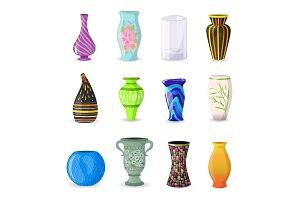 Vase vector decorative ceramic pot
