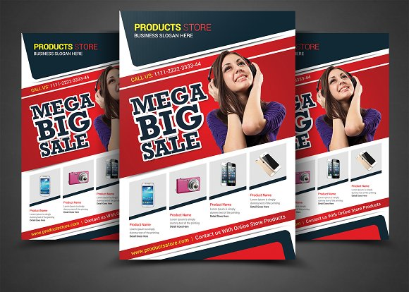 Products Store Flyer Print Templates