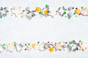 Christmas pattern of various sweets