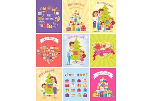 Gifts. Merry Christmas Cards