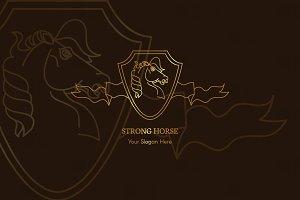 Strong Horse Logo Template