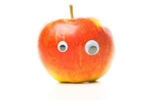 Funny Apple With Eyes