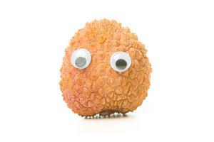 Funny Lychee With Eyes