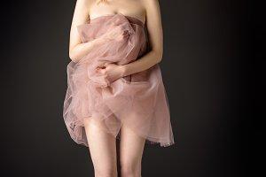 partial view of sensual girl posing