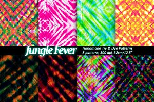 Tie Dye patterns - Set of 8.