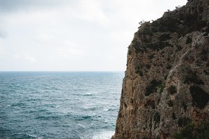 Sardinian Cliff and Sea