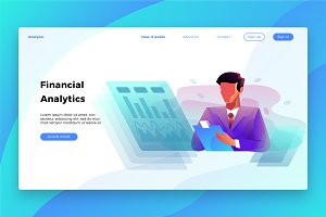 Financial Analytics - Landing Page