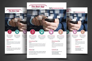 Multipurpose Mobile App Flyer Templa
