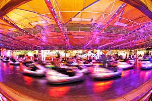Bumper cars are fast