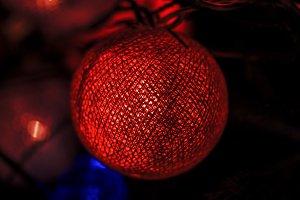 Glowing ball of on Christmas tree