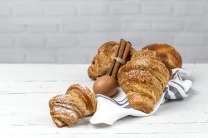 Fresh Croissants and Brioches