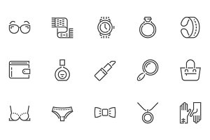Accessories Line Icons