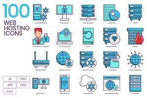 100 Web Hosting Icons