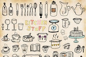 Kitchen Stuff - Hand Drawn Set