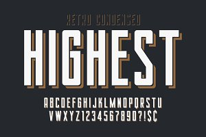 Condensed simple display font design