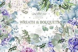 Watercolor Wreath&Bouquets 35 Png