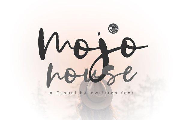 Mojo house   Handwritten Font