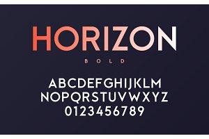 Vector trendy minimal sans serif
