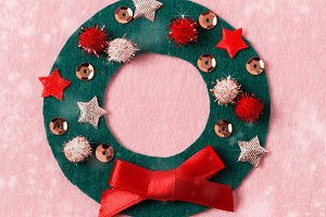 Felt Christmas card, DIY idea